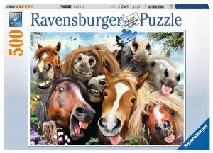 puzzle Ravensburger  500 dílků - Koňské selfie   -  146956