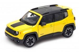 Auto Welly 1:24  Jeep Renegade Trailhawk  žlutá barva