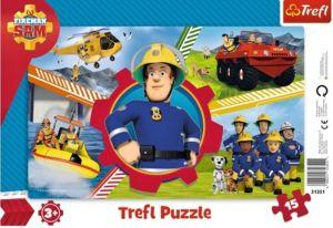 Deskové puzzle Trefl 15 dílků -  31351 - Požárník Sam