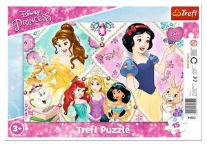 Deskové puzzle Trefl 15 dílků -  31352 - Princezny