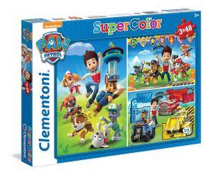 Dětské puzzle Clementoni  - 3 x 48 dílků  - Paw Patrol  25209