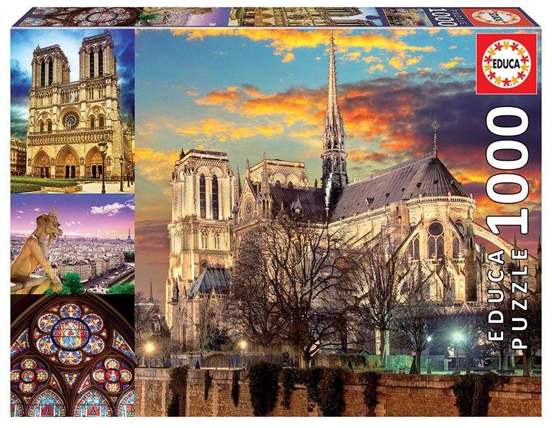 EDUCA Puzzle 1000 dílků - Notre Dame - Koláž 18456