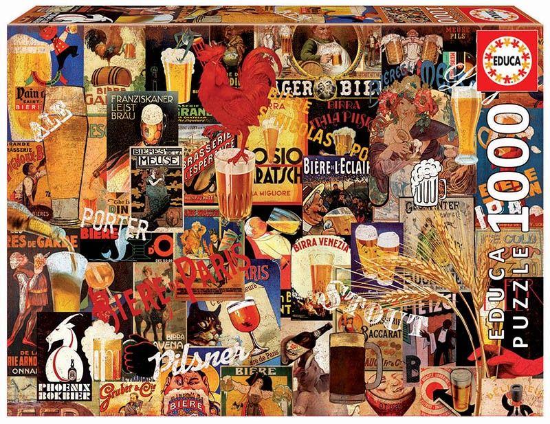 EDUCA Puzzle 1000 dílků - Pivo - Koláž 17970