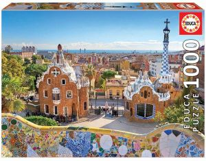 EDUCA Puzzle 1000 dílků - Pohled na Barcelonu z parku Güell 17966