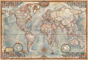 EDUCA Puzzle 1000 dílků - Politická mapa 16754 mini