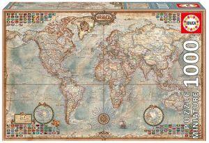EDUCA Puzzle 1000 dílků - Politická mapa  16764 mini
