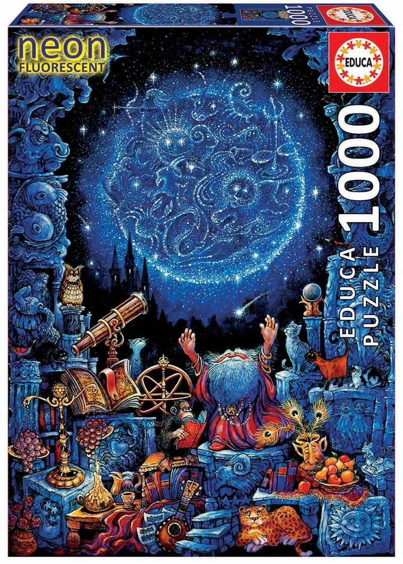 EDUCA Puzzle 1000 dílků svítící - Astrolog 2 18003