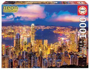 EDUCA Puzzle 1000 dílků  svítící - Hong Kong  18462