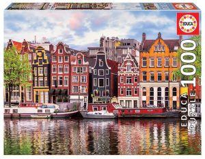 EDUCA Puzzle 1000 dílků -  Tančící domy , Amsterdam   18458