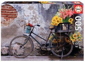 Educa Puzzle 500 dílků - Kolo s květinami 17988
