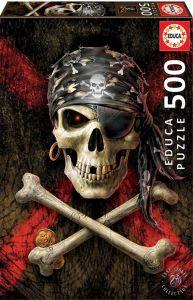 Educa Puzzle 500 dílků - Pirátská lebka 17964