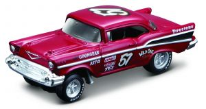 Maisto 1:64 15494 Design - Chevrolet Bel Air 1957 - vínová  barva