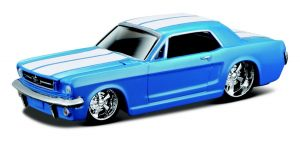 Maisto 1:64 15494 Design - Ford Mustang Notchback 1965 - modrá barva