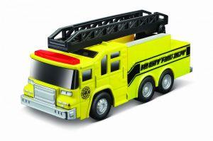 Maisto -  hasičské auto s žebříkem se zvukem a světelnými efekty - žluté