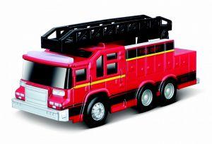 Maisto -  hasičské auto s žebříkem se zvukem a světelnými efekty - červené
