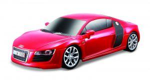 Maisto - RC  Audi R8 V10    1:24  -  červené, 27 MHz.