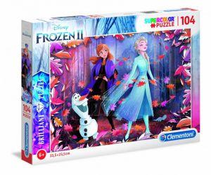 Puzzle Clementoni - 104 dílků  Briliant   -  Frozen II  20161
