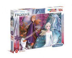 Puzzle Clementoni  - 104 dílků  brokát -  Frozen - Ledové království 20163
