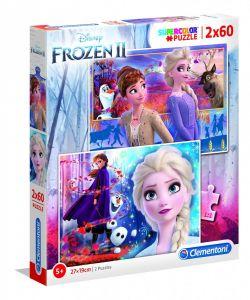 Puzzle Clementoni 2 x 60  dílků  - Frozen II    21609