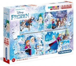 Puzzle Clementoni  - 20, 60, 100 a 180 dílků  -  Frozen    07723
