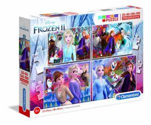 Puzzle Clementoni  - 20, 60, 100 a 180 dílků  - Frozen II 21411