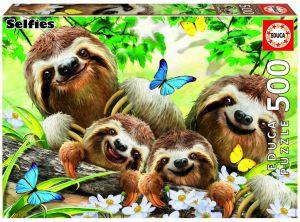 Puzzle EDUCA 500 dílků - Selfie lenochodů  18450