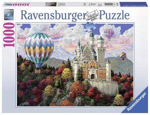 Puzzle Ravensburger 1000 dílků - Balóny nad Neuschwanstein 198573