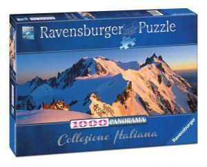 puzzle Ravensburger 1000 dílků  panorama - Monte Bianco 150809