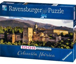 puzzle Ravensburger 1000 dílků  panorama  -  Pevnost Alhambra  150731
