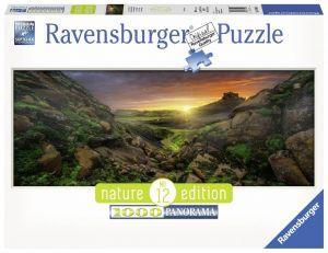 puzzle Ravensburger 1000 dílků  panorama - Slunce nad Islandem 150946