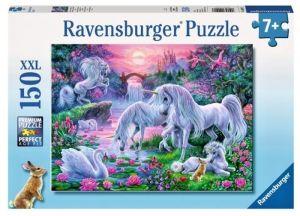 puzzle Ravensburger  150 dílků - Jednorožci při západu slunce   -  100217