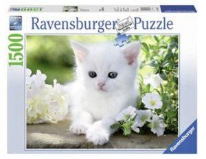 puzzle Ravensburger 1500 dílků  -  Bílé kotě 163437