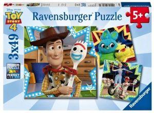 Puzzle Ravensburger  3 x 49 dílků  - Toy Story 4   080670