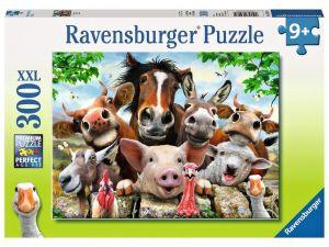 puzzle Ravensburger  300 dílků XXL - Zvířecí selfie -  132072