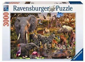 puzzle Ravensburger  3000 dílků -  Africká zvířata   170371