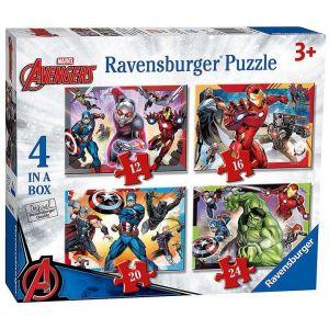 Puzzle Ravensburger  4v1 12, 16, 20 a 24  dílků  Avengers  069422