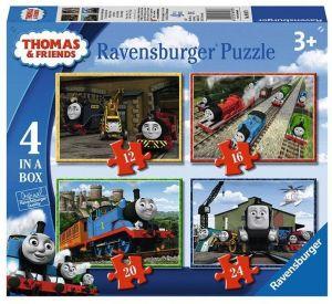 Puzzle Ravensburger  4v1 12, 16, 20 a 24  dílků  Mašinka Tomáš  069378