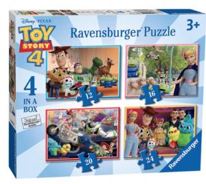 Puzzle Ravensburger  4v1 12, 16, 20 a 24  dílků  Toy Story 068333