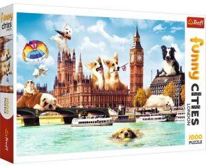 Puzzle Trefl  1000 dílků  - Funny Cities -  Psi v Londýně   10596