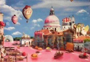 Puzzle Trefl  1000 dílků  - Funny Cities -  Sladkosti v Benátkách  10598