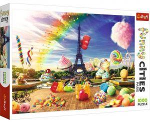 Puzzle Trefl  1000 dílků  - Funny Cities -  Sladkosti v Paříži 10597