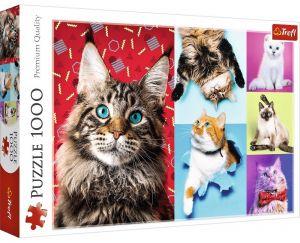 Puzzle Trefl  1000 dílků  - Veselé kočky - koláž   10591