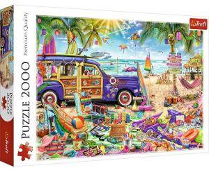 Puzzle Trefl 2000 dílků - Dovolená v tropech   27109