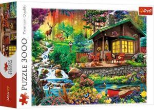 Puzzle TREFL 3000 dílků - Chata v lese   33074