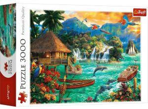 Puzzle TREFL 3000 dílků - Chuck Pinson - Život na ostrově   33072