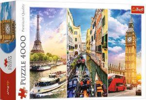 Puzzle TREFL 4000 dílků -  Cestování po Evropě 45009