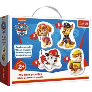 Puzzle Trefl  Baby  3, 4, 5 a 6 dílků  - Paw Patrol  36087
