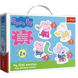 Puzzle Trefl  Baby  3, 4, 5 a 6 dílků  - Prasátko Peppa  36086