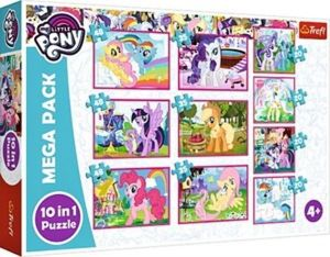 Trefl puzzle 10v1 - Paw Patrol - My Little Pony   90353