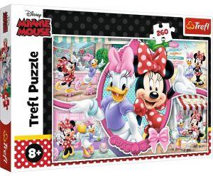 TREFL Puzzle  260 dílků - Veselý den Minnie  13263